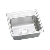 Gourmet Pacemaker ADA Compliant 2 Hole Faucet Drilling Single Bowl Sink with Optional Stainless Butler Cleaner