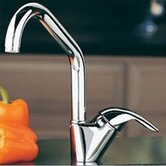 Allure Single Handle Single Hole Kitchen Faucet with Lever Side Handle