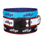 Adopt Dog Collar in Black