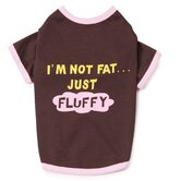 I'm Not Fat Just Fluffy Dog Tee Apparel in Chocolate