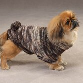 Metallic Turtleneck Dog Sweaters with Poms