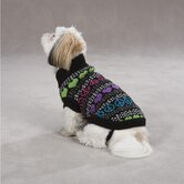 Warm Hearts Dog Sweater in Black