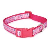 Butterfly Garden Dog Collar in Pink