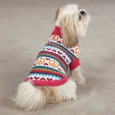 Peace Lovin' Dog Sweater in Raspberry