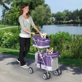 Double Decker Pet Stroller Grape
