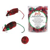 Yuletide Tartan Canister Cat Toy (40 Pieces)