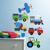 Olive Kids Trains, Planes and Trucks Wall Art