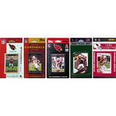NFL 5 Different Licensed Trading Card Team Set