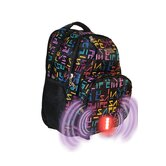 Built-in Alarm School Backpack in iSafe Logo Pattern