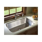 "McAllister 32"" x 18"" Undermount Single Bowl Stainless Steel Kitchen Sink"