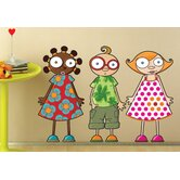 Ludo Nina, Leo and Louison Wall Decal