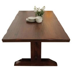 Trestle Distressed Table in Rustic Mahogany