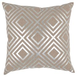 Chloe Linen Decorative Pillow in Silver (Set of 2)