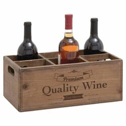 6 Bottle Tabletop Wine Rack in Natural