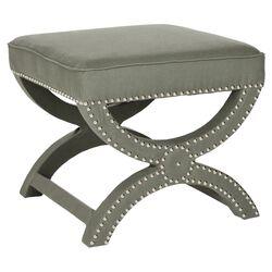 Mystic Upholstered Ottoman in Granite