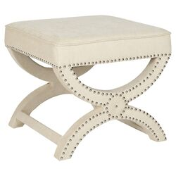 Mystic Upholstered Ottoman in Taupe