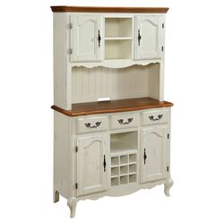 French Countryside Buffet and Hutch in White