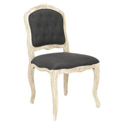 Annabelle Distressed Side Chair in Black (Set of 2)