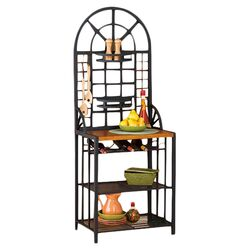 Heights Bakers Rack in Black