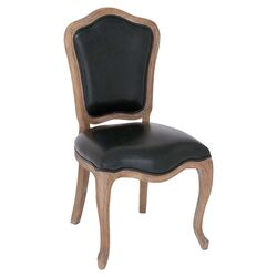 Vintage French Side Chair in Black
