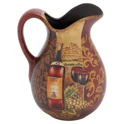 Yangtze Décor Ceramic Pitcher in Merlot