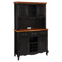 French Countryside Buffet and Hutch in Black
