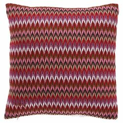 Evan Polyester Decorative Pillow in Raspberry (Set of 2)
