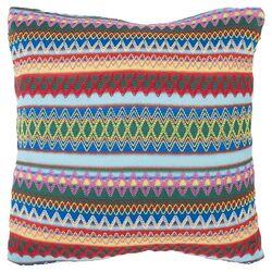 Mckenzie Burst Polyester Decorative Pillow in Sky Blue Burst (Set of 2)