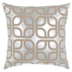 Cole Linen Decorative Pillow in Silver (Set of 2)