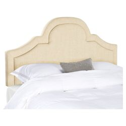 Kerstin Arched Upholstered Headboard in Hemp
