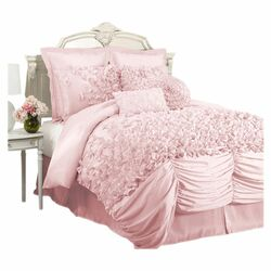 Lucia 4 Piece Comforter Set In Pink