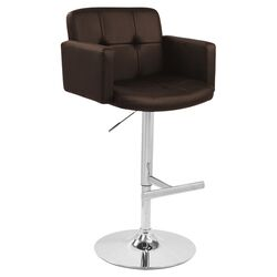 Stout Adjustable Barstool in Brown