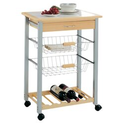 Roanoke Kitchen Cart in Natural