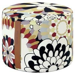 Vevey Cylindrical Pouf Ottoman in T60