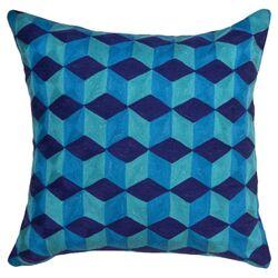 Jaiour Cubes Pillow in Blue