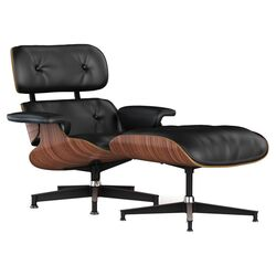 Eames Lounge Chair & Ottoman in Black