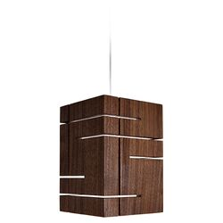 Claudo LED Pendant in Walnut