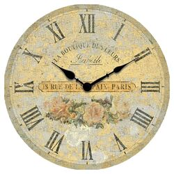 Boutique Roses Clock in Ivory