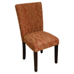 Classic Parsons Chair in Red & Gold
