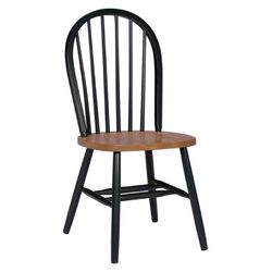 Windsor Side Chair in Black & Cherry