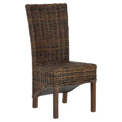 Ridge Parsons Chair in Dark Brown (Set of 2)