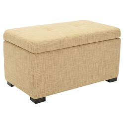 Violet Ottoman in Pale Yellow