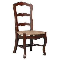 French Side Chair in Walnut Brown (Set of 2)