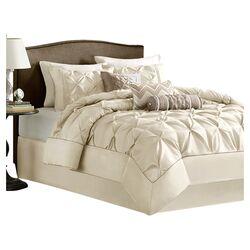 Laurel 7 Piece Comforter Set in Ivory
