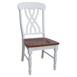 Latticeback Side Chair in Pearl & Oak (Set of 2)