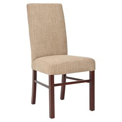 Classical Cotton Parson Chair in Olive Beige (Set of 2)