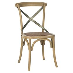 Eleanor Side Chair in Weathered Oak (Set of 2)