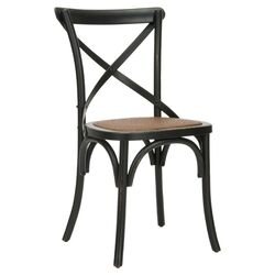 Logan X Back Chair in Black (Set of 2)