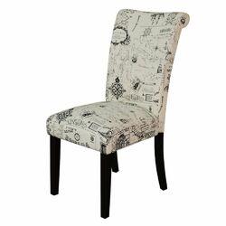 Voyage Parsons Chair in Black & Beige (Set of 2)