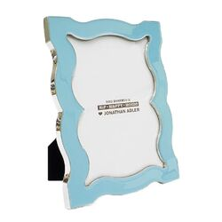Queen Anne Picture Frame in Robin's Egg Blue